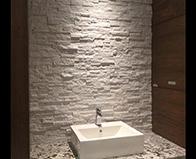 Realstone Systems Arctic White Shadowstone natural stone panel backsplash