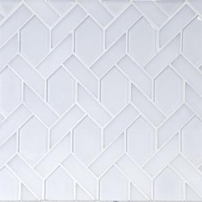 Astoria-Elongated Hexagon in Super White Glass