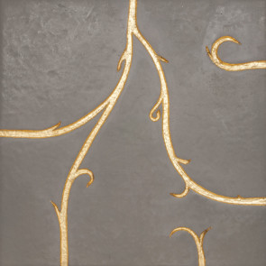 Flamboyant Marble Tile, light grey with gold leaf application