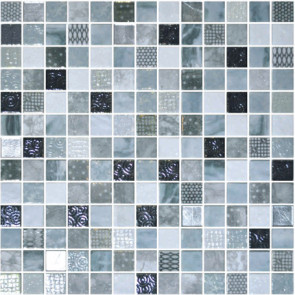 """Onix Cosmic 1"""" x 1"""" mosaic glass and porcelain in Lucca"""