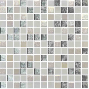 "Onix Mystic 1"" x 1"" mosaic glass and porcelain in Arola"