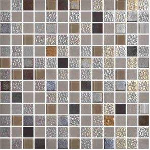 "Onix Mystic 1"" x 1"" mosaic glass and porcelain in Sinai"