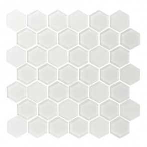 "Pure 2"" Hexagon Ice White"