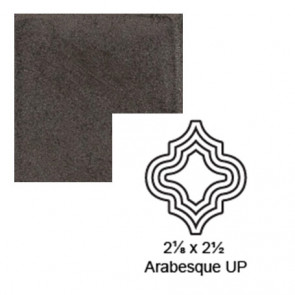 "2 1/8"" x 2 1/2"" Arabesque up Steppe in Iron Ore"
