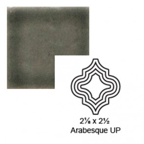 "2 1/8"" x 2 1/2"" Arabesque up Steppe in Jet Stream"