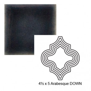 "4 1/2"" x 5"" Arabesque down Steppe in Dark Denim"