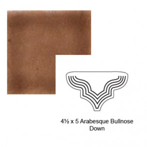 Arabesque Down Steppe Bullnose in Chocolate Milk