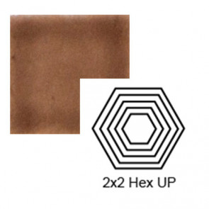 "2"" x 2 1/4"" Hexagon up Steppe in Chocolate Milk"