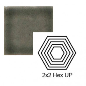 "2"" x 2 1/4"" Hexagon up Steppe in Jet Stream"