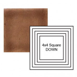 "4"" Square down Steppe in Chocolate Milk"