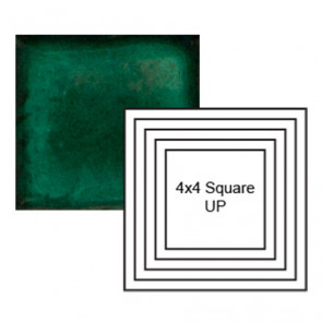 "4"" Square up Steppe in Emerald"