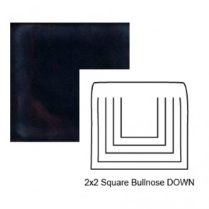 Small Square Down Tile Bullnose in Three A.M.