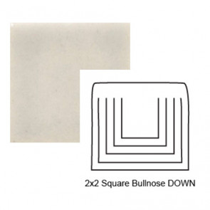 Small Square Up Tile Bullnose in Misty Morning