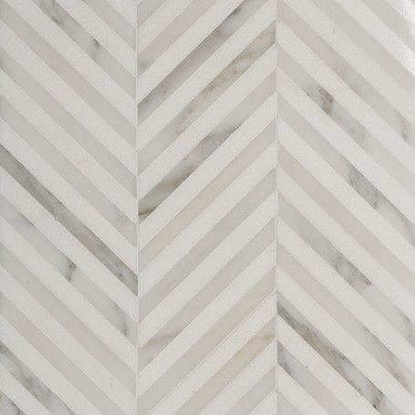 Elegant marble mosaic tile in a classic Chevron pattern ...