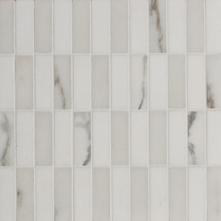 Elegant Marble Mosaic Tile In A Classic Soldier Stack
