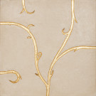 Flamboyant Limestone Tile, beige with gold leaf application