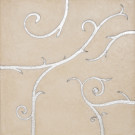 Flamboyant Limestone Tile, beige with silver leaf application