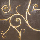 Flamboyant Marble Tile, light brown with gold leaf application