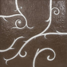 Flamboyant Marble Tile, light brown with silver leaf application