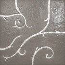 Flamboyant Marble Tile, light grey with silver leaf application