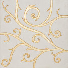 Flamboyant Marble Tile, white with gold leaf application