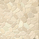 Sliced Pebble Mosaics, Bali White