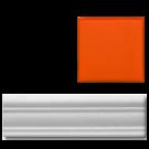 California Revival Chair Rail Orange
