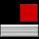 California Revival Chair Rail Red
