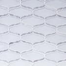 Cosmopolitan-Elongated Arabesque in Super White Glass with Carrara Marble Border