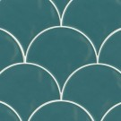 """Sorrento 6"""" x 7"""" Wave Ceramic Wall Tile in Turchese"""