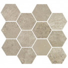 Concrete Ash Grey Hexagon Mosaic (matte)