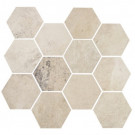Concrete White Cloud Hexagon Mosaic (matte)