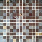 """Onix Mystic 1"""" x 1"""" mosaic glass and porcelain in Agata Diamond Brown"""
