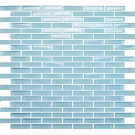 "Vetro Crystal Blue 1/2"" x 2"" Staggered Brick"