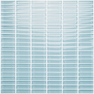 "Vetro Crystal Blue 1/2"" x 2"" Straight Brick"