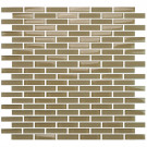 "Vetro Warm Beige 1/2"" x 2"" Staggered Brick"