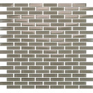 "Vetro Winter Taupe 1/2"" x 2"" Staggered Brick"