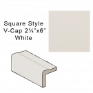 Genies Collection Square Style V-Cap in White