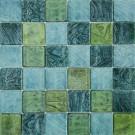 "Erin Adams Glass Mosaic 2"" x 2"" in Malta Fern"