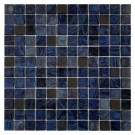 "Erin Adams Glass Mosaic, 1"" x 1"" in Malta Lapiz"