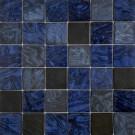 "Erin Adams Glass Mosaic 2"" x 2"" in Malta Lapiz"