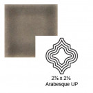 "2 1/8"" x 2 1/2"" Arabesque up Steppe in Cold Rolled"