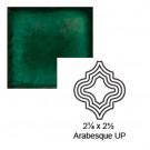 "2 1/8"" x 2 1/2"" Arabesque up Steppe in Emerald"