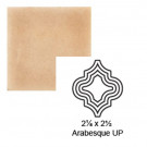"2 1/8"" x 2 1/2"" Arabesque up Steppe in Pebbled Courtyard"