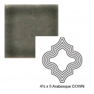 "4 1/2"" x 5"" Arabesque down Steppe in Jet Stream"