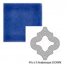 """4 1/2"""" x 5"""" Arabesque down Steppe in Very Royal"""