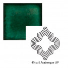 "4 1/2"" x 5"" Arabesque up Steppe in Emerald"