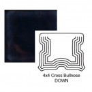 """4"""" Cross Down Tile Bullnose in Three A.M."""