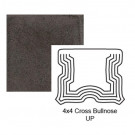 """4"""" Cross Up Tile Bullnose in Iron Ore"""