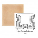 """4"""" Cross Up Tile Bullnose in Pebbled Courtyard"""